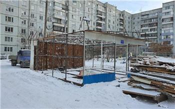 В Ленинском районе снесли еще два алкопавильона