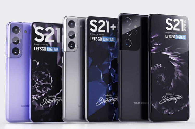 Смартфоны серии Samsung Galaxy S21 предстали на рендерах высокого качества