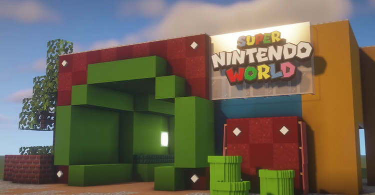Фанат Nintendo воссоздаёт в Minecraft парк развлечений Super Nintendo World
