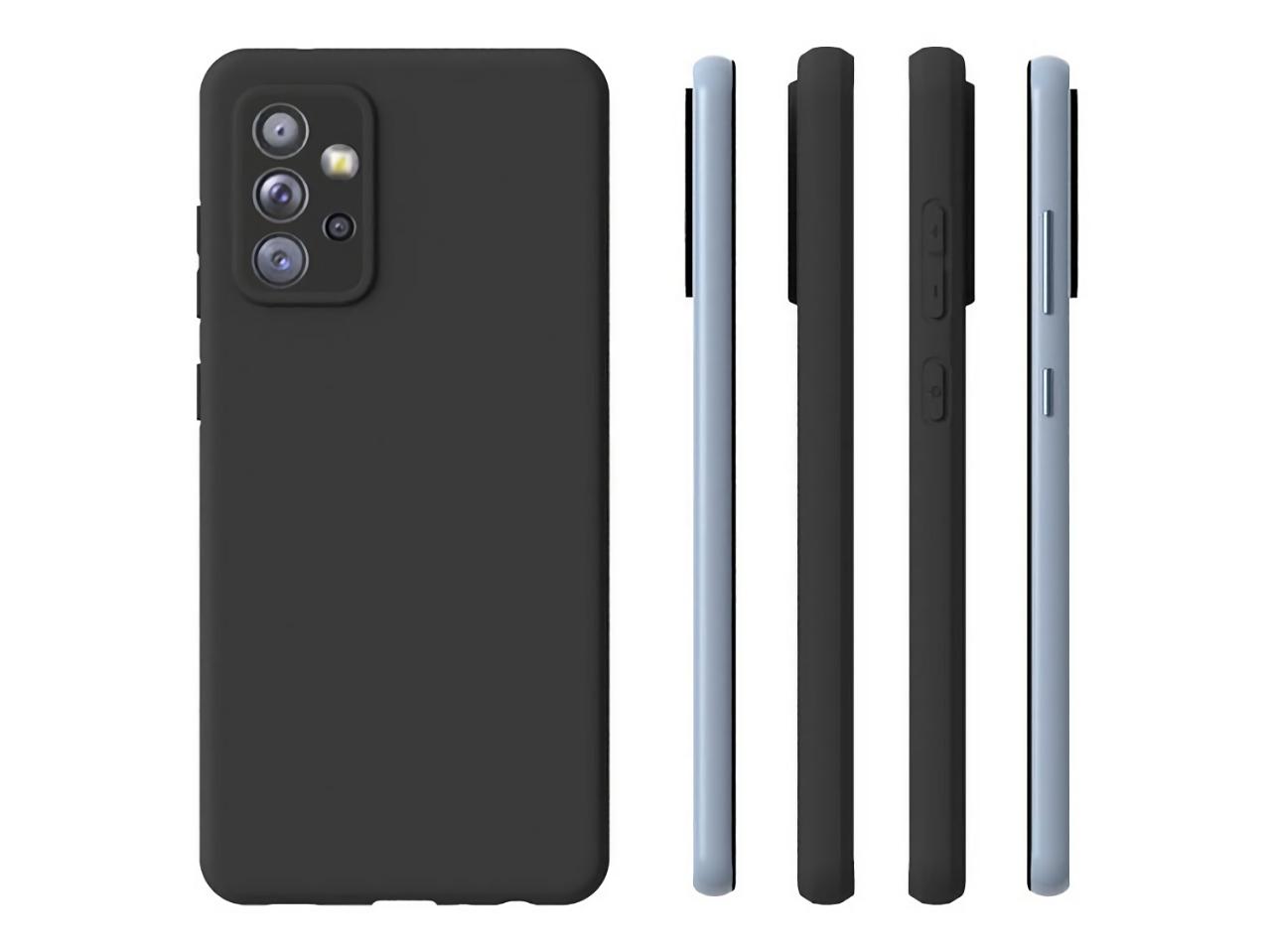 Samsung Galaxy A72 5G появился на рендерах: дисплей Infinity-O, квадро-камера и разъём для наушников