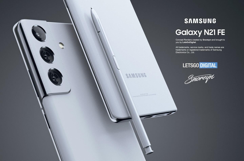 Samsung Galaxy Note 21 FE появился на концепт-рендерах с дизайном, как у Galaxy S21 и поддержкой S Pen