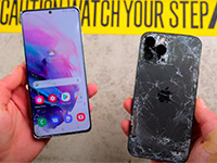 Сравнение прочности iPhone 12 Pro Max и Samsung Galaxy S21 Ultra