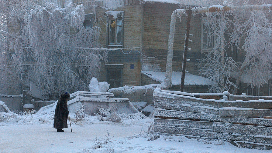 В Якутске 'потеплело' до -43°С