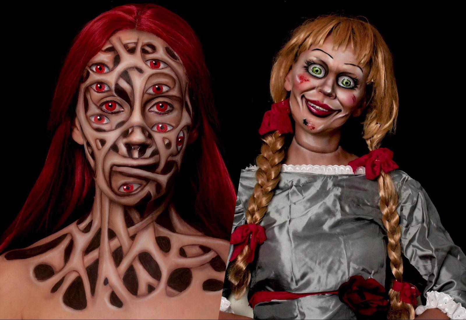 10 ужасающих оптических иллюзий, созданных с помощью косметички и таланта одной девушки из Сербии